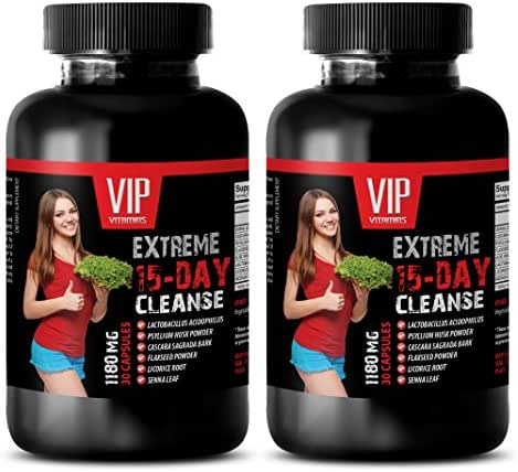 Weight Loss for Women That Work Fast - 15-Day Cleanse 1180MG - Natural Weight Loss - Digestive AID - Powerful - psyllium Husk Powder Nature - 2 Bottles 60 Capsules