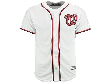 size 40 723ac 03940 MLB Youth Boys (8-20) Washington Nationals White Home Cool Base Jersey