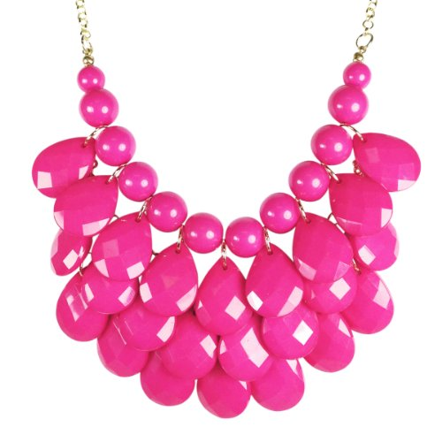 Wrapables Teardrop Bubble Necklace Pink