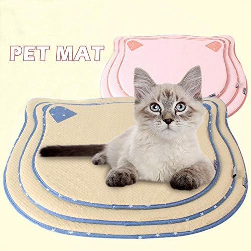 benefit-X Dog Cooling Mat Pet Cooling with Cartoon Oxford Cloth Sponge Cat t Breathable Antibacterial Sleeping Cat Head Shaped Pet Mat Cooling Mat Nest for Dog Cat