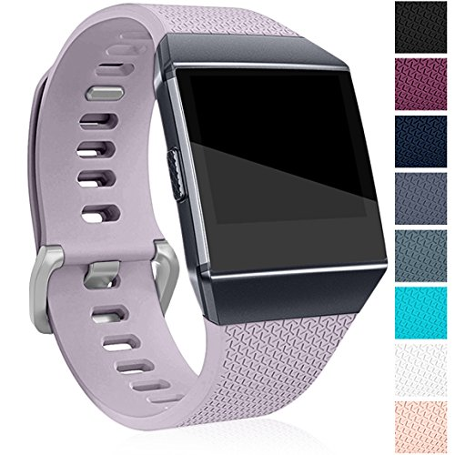 Maledan Replacement Bands Compatible for Fitbit Ionic, Lavender, Large