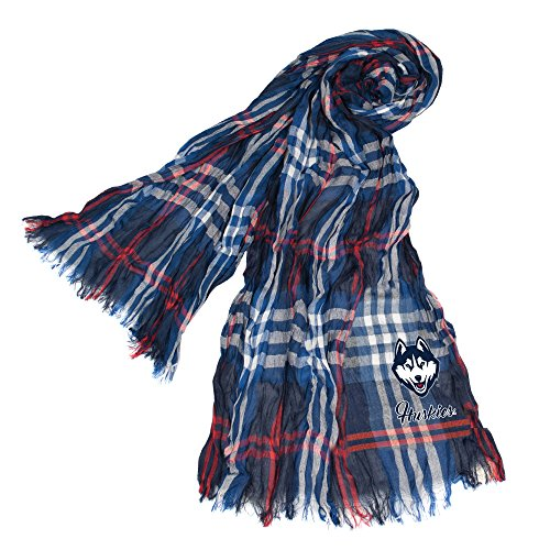 NCAA UConn Huskies Plaid Crinkle Scarf for sale  Delivered anywhere in USA