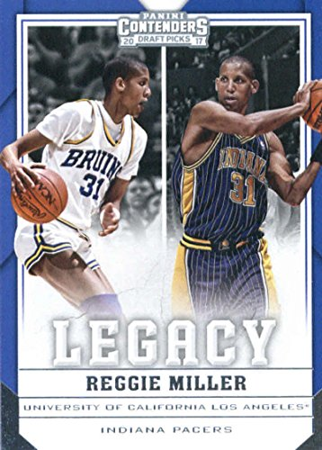 Indiana Pacers Draft - 2017-18 Panini Contenders Drafts Picks Legacy #26 Reggie Miller Indiana Pacers/UCLA Bruins Basketball Card