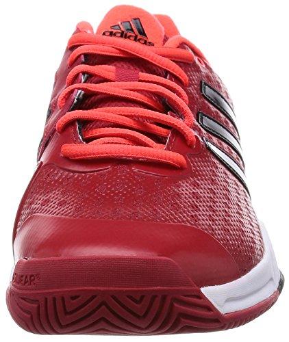 adidas - Barricade Team 4, Sneakers da uomo, Multicolore (Rojo / Negro / Naranja), 40