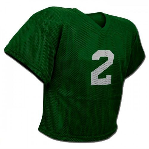 CHAMPRO New FJ2Y Mesh Waist Length Football Youth Practice Jersey Dark Green (YS/M) (Youth Waist Length Football Jersey)
