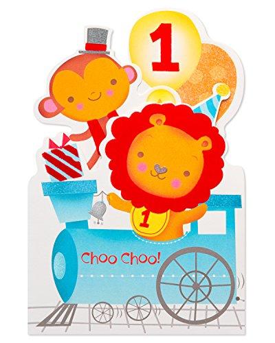American Greetings Choo-Choo 1st Birthday Card with Foil (6084445) ()