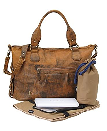 Amazon.com: OiOi bolsa bolsa de pañales – piel Jungle Slouch ...