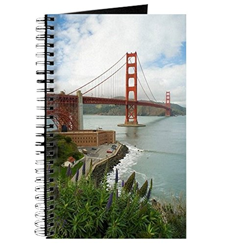 - CafePress Golden Gate Bridge South Spiral Bound Journal Notebook, Personal Diary, Task Journal