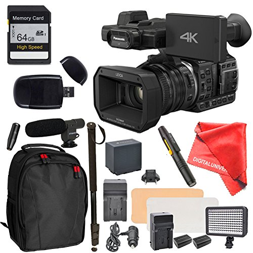 Panasonic HC-X1000 Camcorder High-Powered 20x Optical Zoom & Professional Functions, High Speed Memory Card, Monopod, External Mic, Backpack and more by DIGITALUNIVERSE