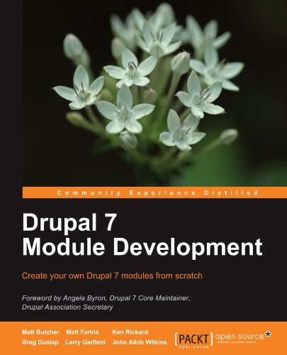 Book cover from Drupal 7 Module Development by Matt Butcher