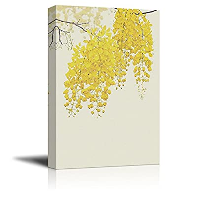 Small Yellow Flowers Blooming in Spring, Quality Artwork, Charming Artisanship