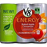 Every day, you set a new record for getting it all done. Refuel with V8 +Energy Baked Apple Cinnamon. Naturally powered by green tea and infused with hints of apple and cinnamon, V8 +Energy powers you up V8-style. It's rich in B vitamins, con...