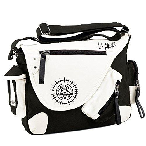 Black Leather Butler Bag - 5