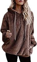 Logobeing Chaqueta Suéter Abrigo Jersey Mujer Invierno Talla Grande Hoodie Sudadera con Capucha Mujer Caliente y Esponjoso Top