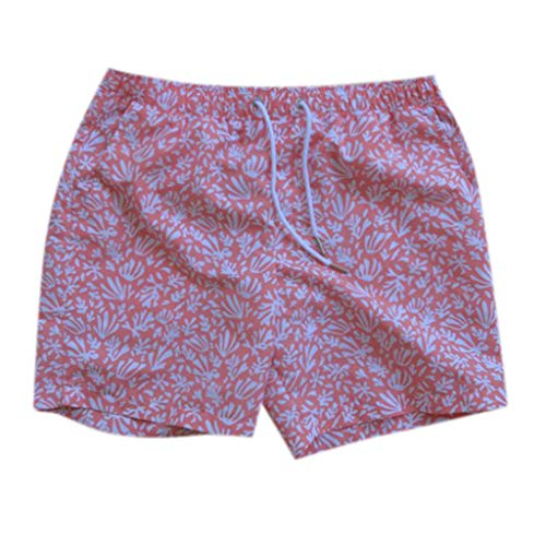 NUWFOR Men Daddy Swimwear Running Surfing Sports Beach Shorts Trunks Board Pants(Pink-Dad,US:L Waist33.1-35.4'') by NUWFOR (Image #6)