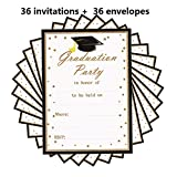 2018 Graduation Party Invitations Card 36PCS with Envelopes,5'' x 7''Grad Celebration Announcement Supplies for High School - College - Senior school