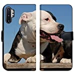 MSD Premium Designed Note 10 Plus Flip Fabric Wallet Case Image ID: 1827381 Portrait of a Beautiful Purebred American Staffordshire Terrier 6