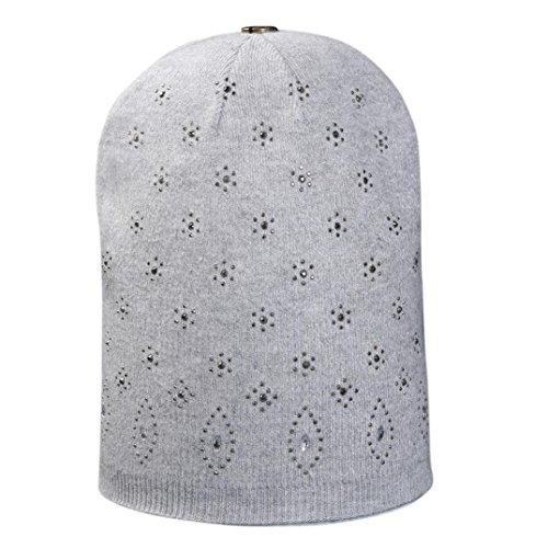 Newest Womens Fashion Hot Drill Cap Crochet Winter Warm Cap (Multicolor,F) (Wool Drill Hat)