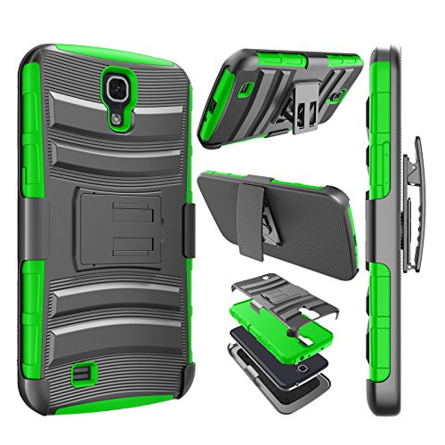 Galaxy Mega 6.3 Case, Njjex [Ngate Series] Armor Shock Swivel Locking Holster Belt Clip Kickstand Heavy Defender Full Body Carrying Case Cover For Samsung Galaxy Mega 6.3 i9200/i9205/i527 [Green]