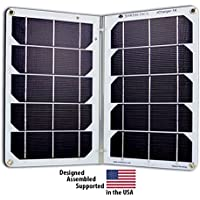 Suntactics S14 Dual Port Solar Charger, -Extremely Durable and Reliable, -Waterproof, -Auto-Retry, -Quick charges Tablets, -All iPhones, Galaxys, -Anything USB