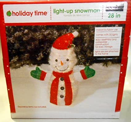 holiday time lightup snowman christmas decoration indoor or outdoor