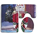 Nutcracker Accessories Bathroom Rugs Set Thin Bathroom Rugs And Mats Anti-static Lid Toilet Cover And Bath Mat