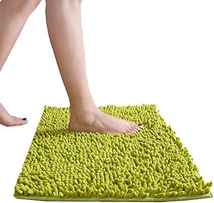 Sunglow Badeteppich 150x50 Cm Lange Badematte Badvorleger Xxl Fur Badezimmer Teppich Laufer Himmlich Weich Grun Amazon De Kuche Haushalt