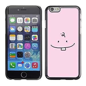 X-ray Impreso colorido protector duro espalda Funda piel de Shell para Apple iPhone 6 Plus(5.5 inches)- Tooth Baby Minimalist Drawing Pink Cute