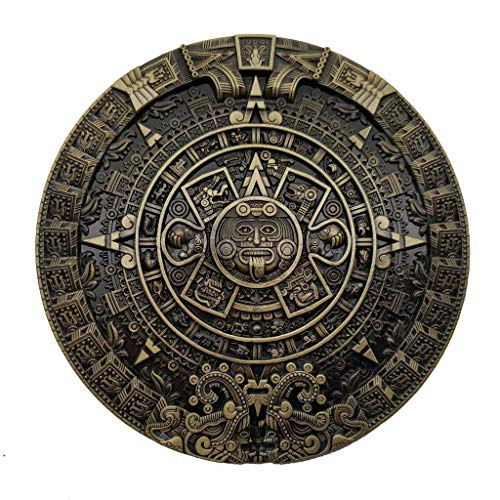 Mayan Aztec Calendar Belt Buckle Brass ()