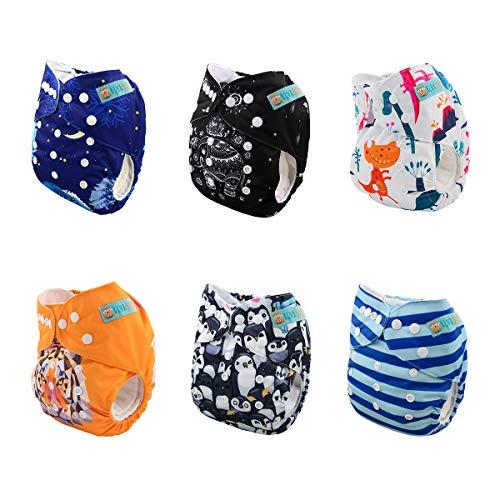 Alva Baby New Design Reuseable Washable Pocket Cloth Diaper 6 Nappies + 12 Inserts 6DM23 by ALVA (Image #2)