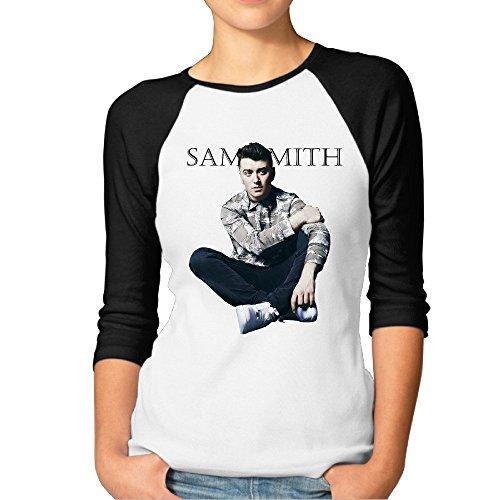 Woman Sam Smith Baseball Athletic 3/4 Sleeve Tee Shirt