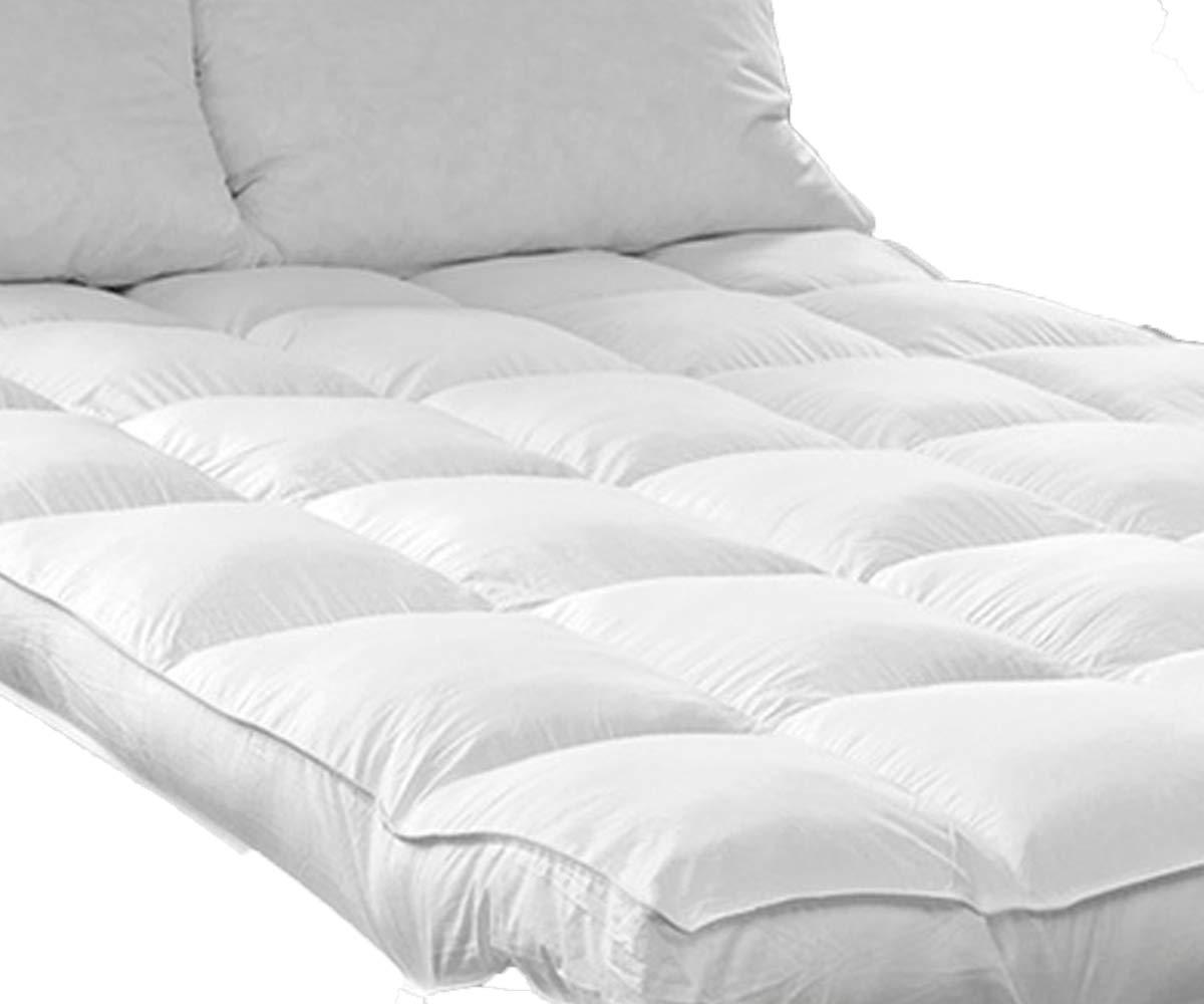 QUEEN ROSE Mattress Topper Queen, Plush Pillow Top Mattress Pad,Hotel Quality Hypoallergenic Down Alternative,Soft and Firm,2'' H