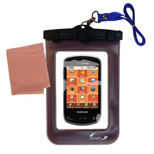 Gomadicアウトドア防水携帯ケースSuitable for the Samsung Brightside / sch-u380に使用Underwater – keepsデバイスClean and Dry   B0088NYDJK