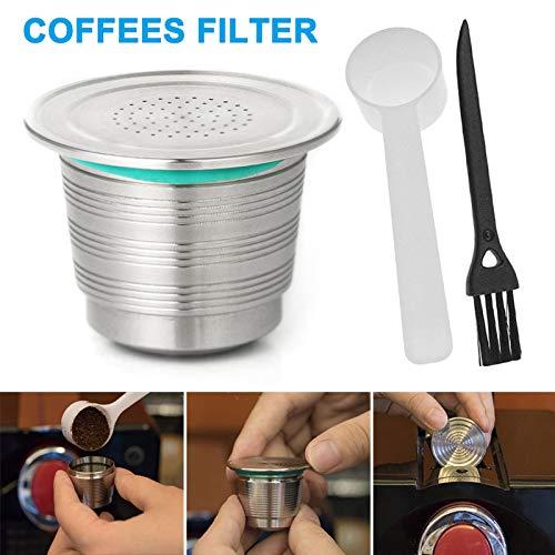 Tecoto Filtro de Cápsula de Café, Reutilizable, Recargable, Acero ...