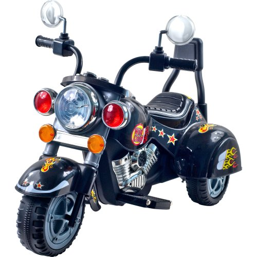 3 Wheel Chopper Trike Motorcycle for Kids, Battery Powered Ride On Toy by Lil' Rider  – Ride on Toys for Boys and Girls, Toddler and Up - Black (Video Harley Game Davidson)