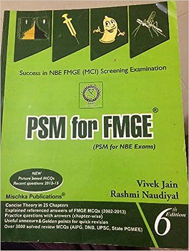 Book psm mcq