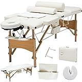 84''L 3 Fold Portable Facial SPA Bed Massage Table Sheet+2 Bolster+Cradle+Hanger + FREE E-Book