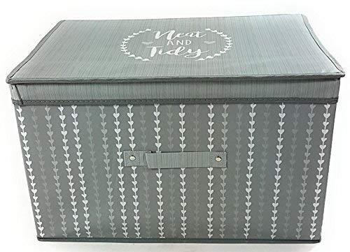 4x helle Blatt Blätter grau silber groß Transport versenkbarer Aufbewahrung Box Truhe 50x 30x 40cm Storage Box