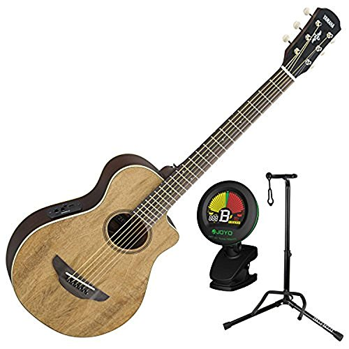 Yamaha APXT2EW NA 3/4 Scale Mini Thinline Natural Acoustic Electric Guitar w/ Stand and Tuner
