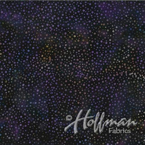 Hoffman New Grape Purple Dot Bali Batik Fabric 885-N45 by The Yard