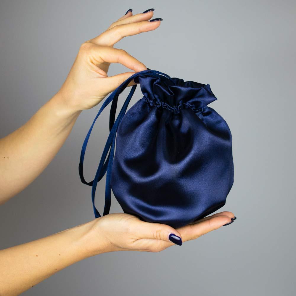 Bolso saten novia boda azul marino regalo novia regalo boda ...