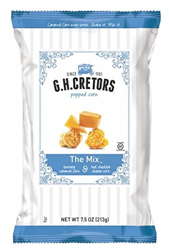 G.H. Cretors The Mix Popped Caramel & Real Cheddar Cheese Pop Corn 7.5 oz. (Pack of 2) by G.H. Cretors
