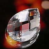 H&D 5pcs 38mm Chandelier Crystal Prism Pendant,Prism Suncatchers for Window, Chandeliers Replacement Parts