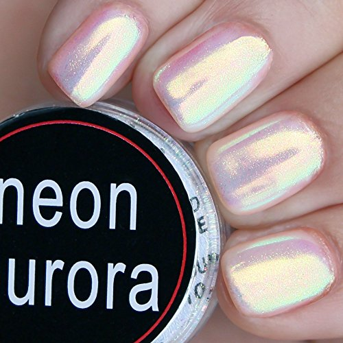 Powder Super White Nail (PrettyDiva Mermaid Chrome Nail Powder, Aurora Iridescent Unicorn Nail Powder Manicure Pigment for Nail Art)