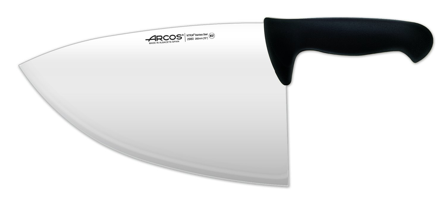 Arcos 10-Inch 260 mm 485 gm 2900 Range Cleaver, Black by ARCOS (Image #1)