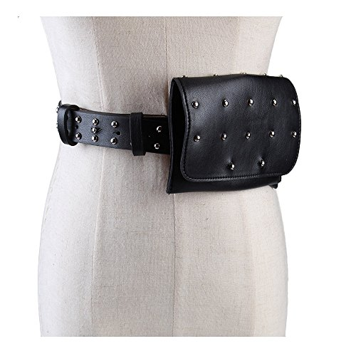 pack,VITORIA'S GIFT removable Round buckle Belt with MINI Purse Travel Cell pocket money Bag ()