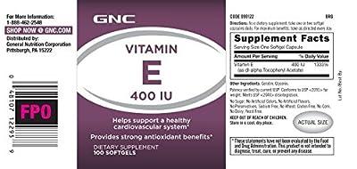 GNC Vitamin E 400 IU