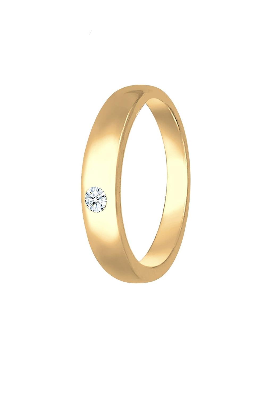 Elli Premium Anhänger Kinder Taufring Diamant (0, 01ct) in 585 Gelbgold