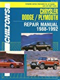 Chrysler Repair Manual, 1988-92 : Jumbo Maxi Manual, Dean F. Morgantini, Richard J. Rivele, 0801983207