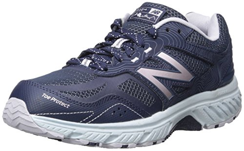 New Balance Women s 510v4 Cushioning Trail Running Shoe, Navy, 7 D US